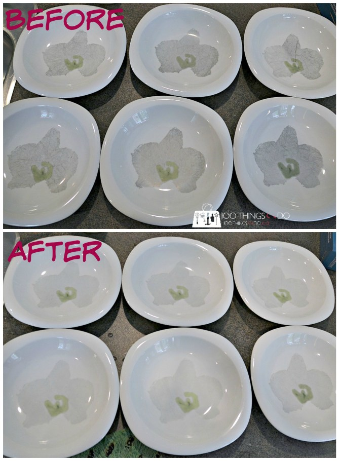 How to remove cutlery scuffs from dishes