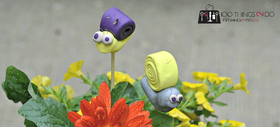 Polymer clay garden snail to accent your planters