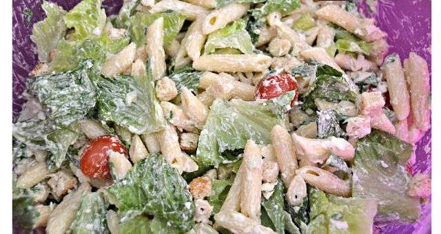 Caesar Pasta Salad - easy, delicious and a perfect summer side or entree!