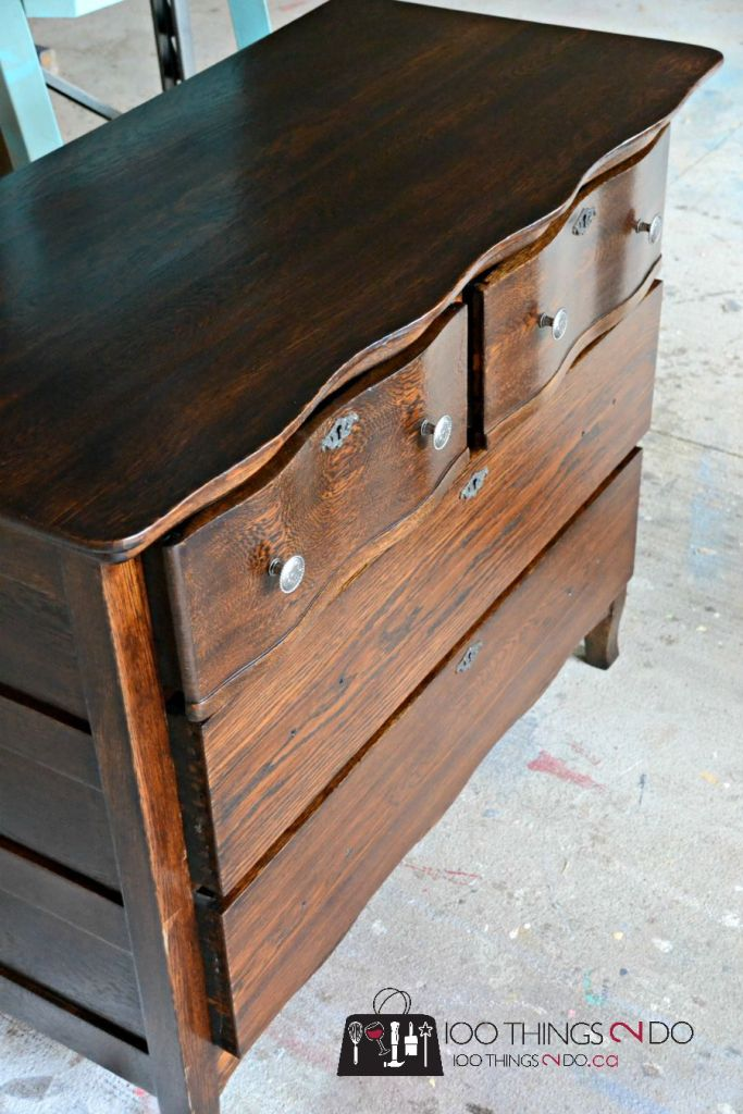 antique dresser makeover, refinishing antiques, refinished antique dresser, antique dresser, how to refinish an antique dresser