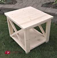 DIY - Rustic X side table - 100 Things 2 Do