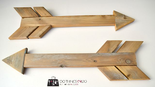 Rustic wood arrows - easy DIY build on the blog