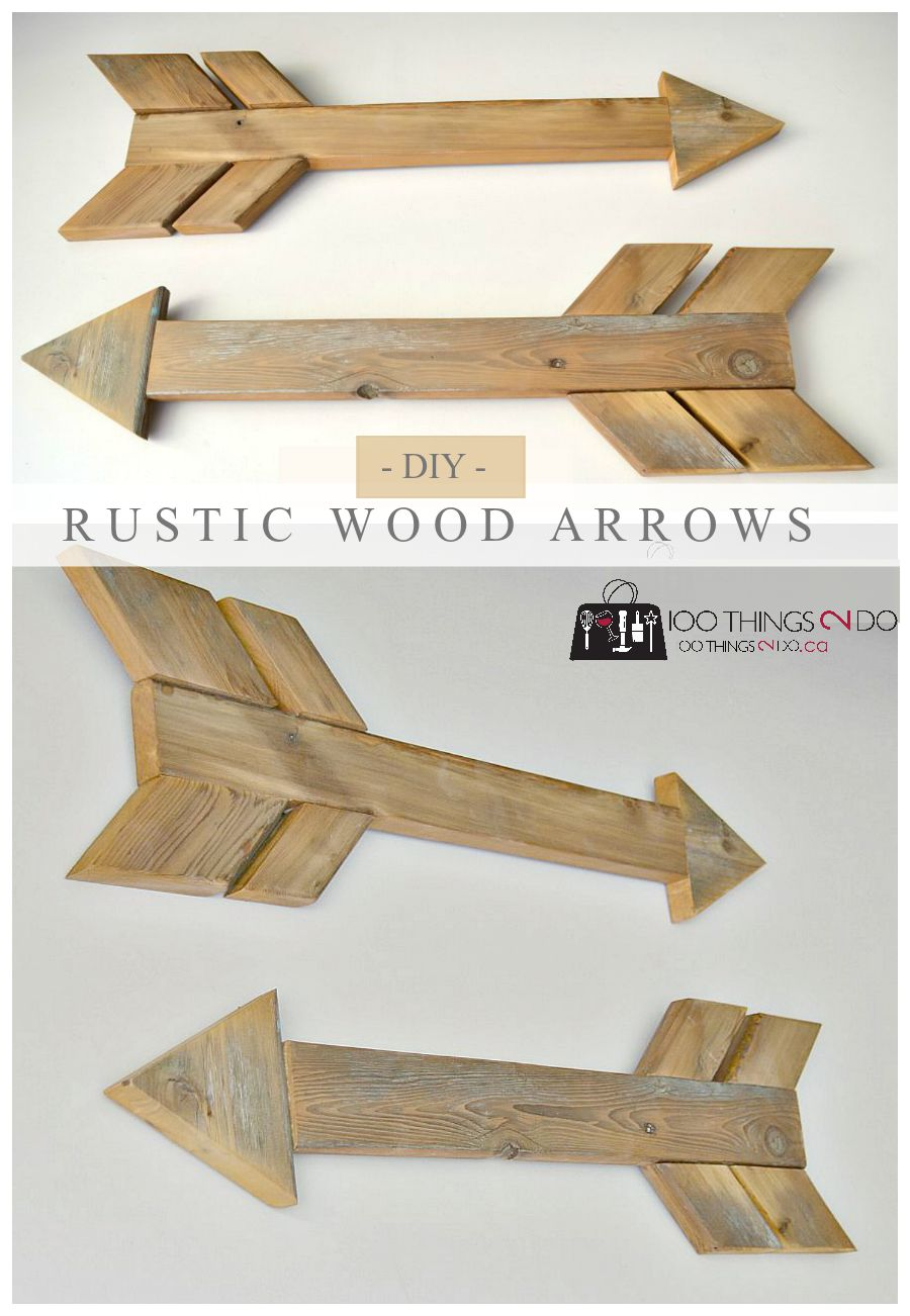 how to build rustic wood arrows from scrap wood easy diy - Wood Craft Ideas