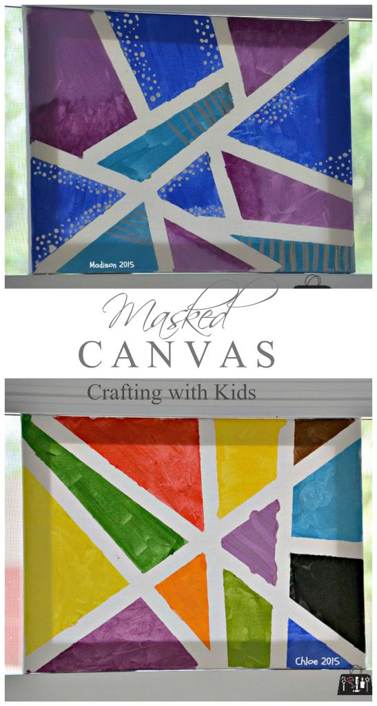 Masked Canvas - crafts for kids on a dime