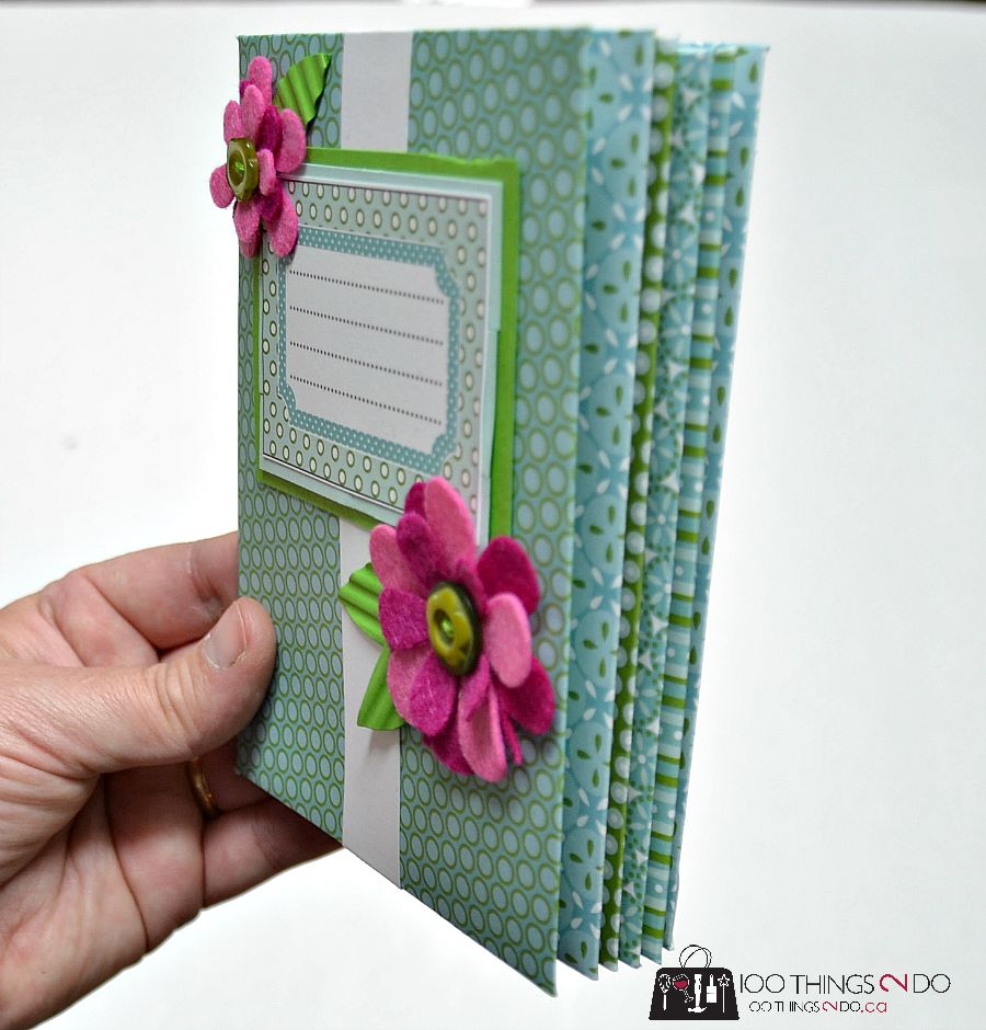 How to make an envelope scrapbook