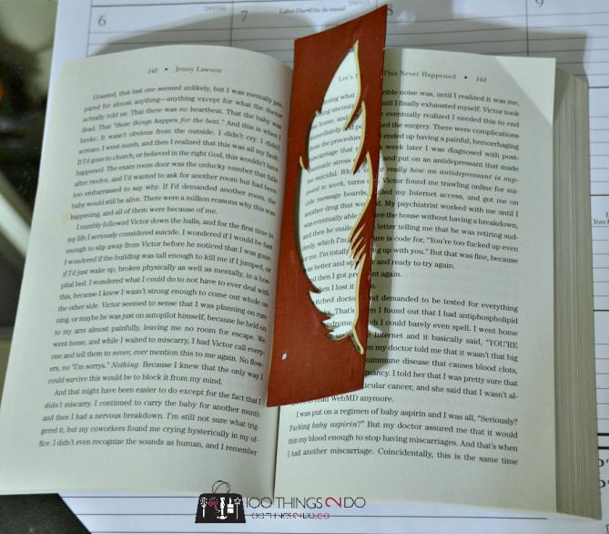 Feather bookmarks 5 - 1