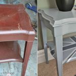 Trash to treasure - garbage side table turned to Union Jack accent table