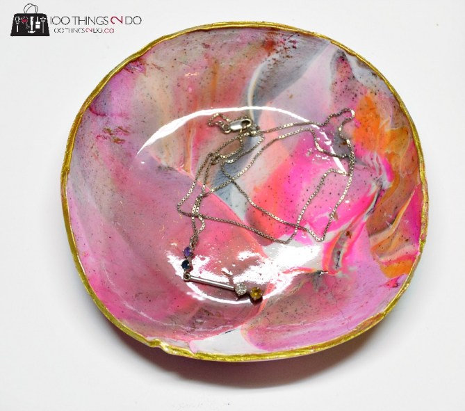 Marbled clay dish 2 - 2