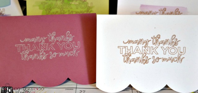 Thank you card sets to give as Christmas gifts