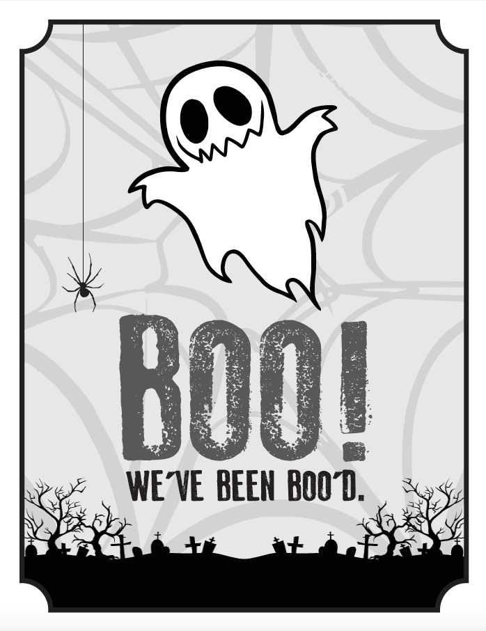 You've been boo'd, Boo'd poem, Booing