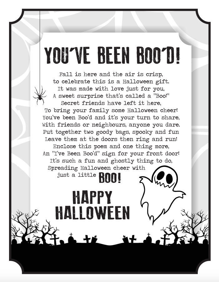 It's just a picture of You've Been Booed Printable intended for party city