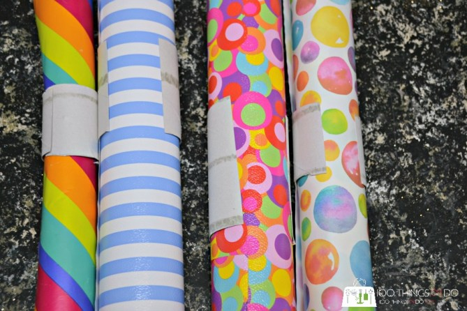 wrapping paper storage - 2