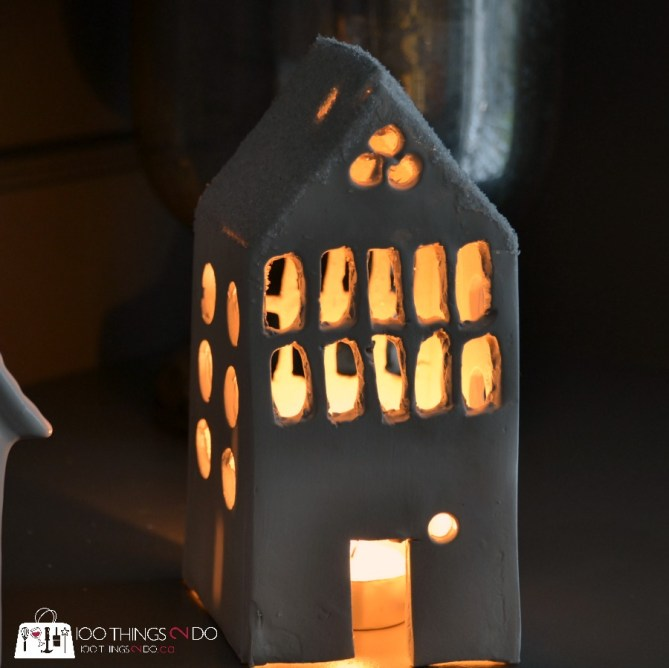 Ceramic tea light house 6