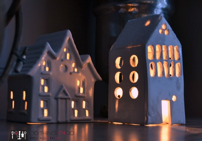 Ceramic tea light house 8