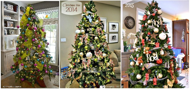 Christmas tree - through the years
