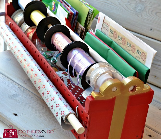Gift wrap caddy 7