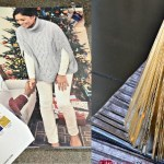 Magazine Christmas tree - upcycle Christmas flyers and magazines into cute decor trees