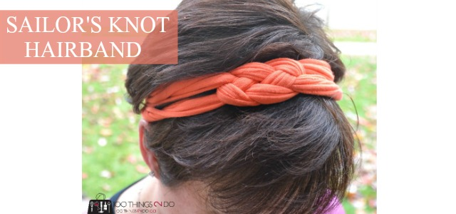 Sailor knot hairband from an old t-shirt