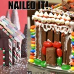 Chocolate gingerbread houses