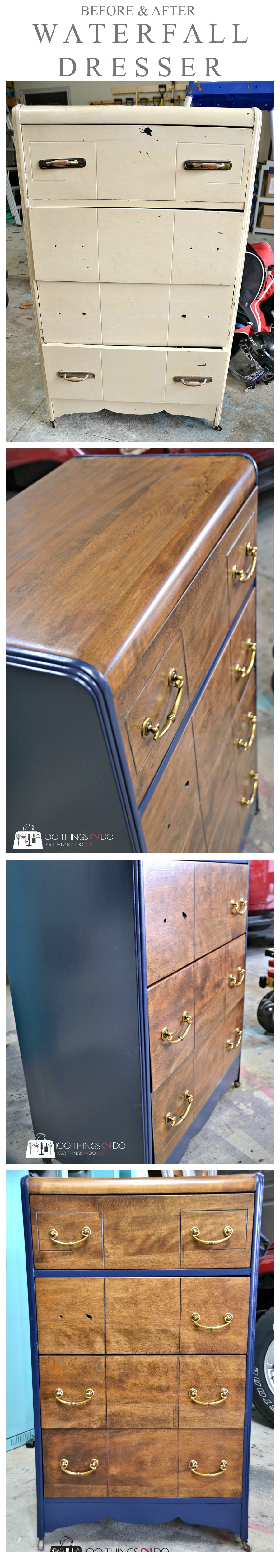 Waterfall Dresser makeover P