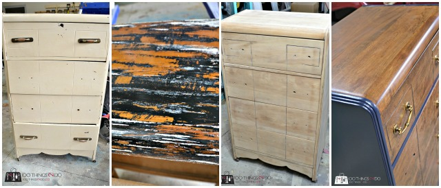 Waterfall dresser makeover, refinished dresser, dresser makeover