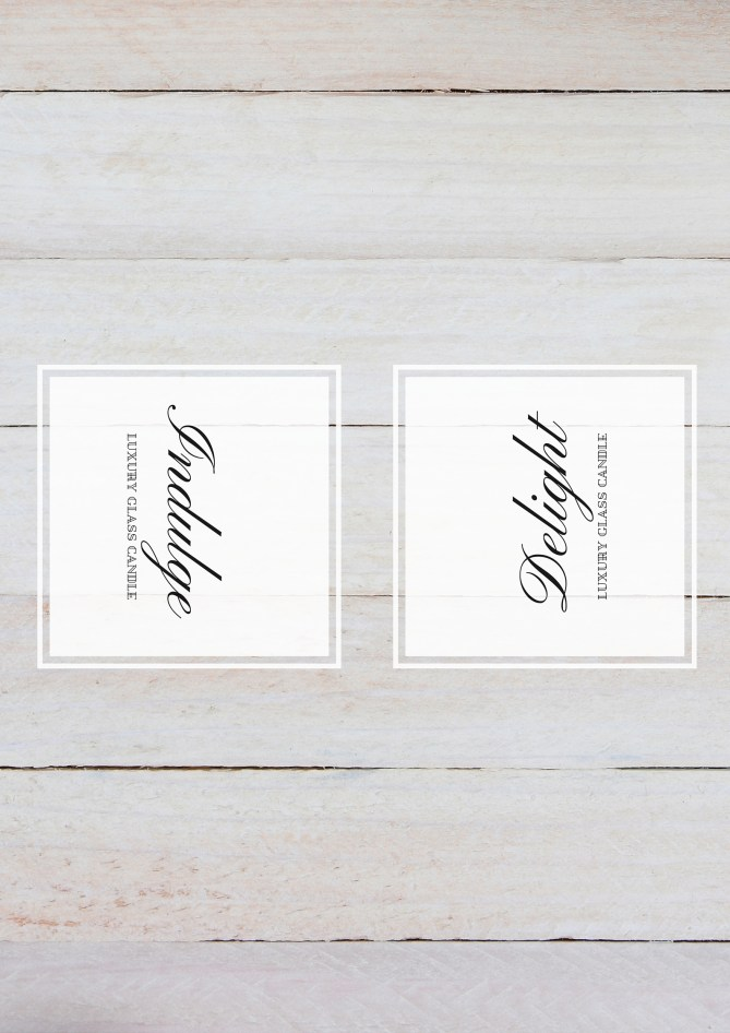 Printable candle wraps - for a custom (high-end) look