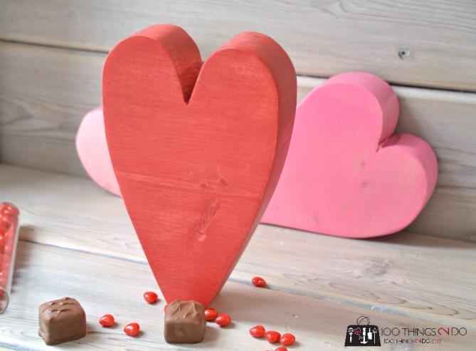 Scrap Wood Hearts - 8