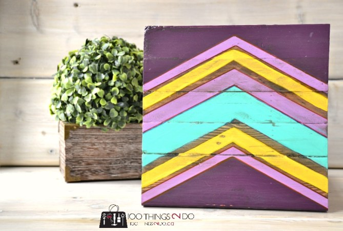DIY Chevron Art on Scrap Wood 2 - 1