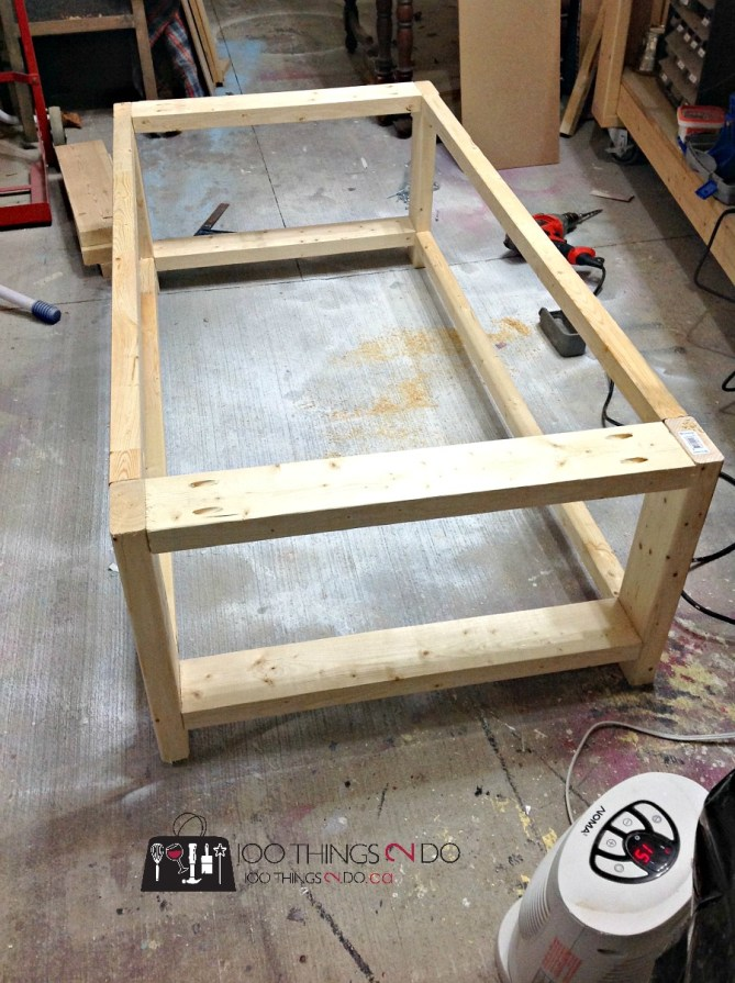 Diy coffee table rustic x for Build your own coffee table kit