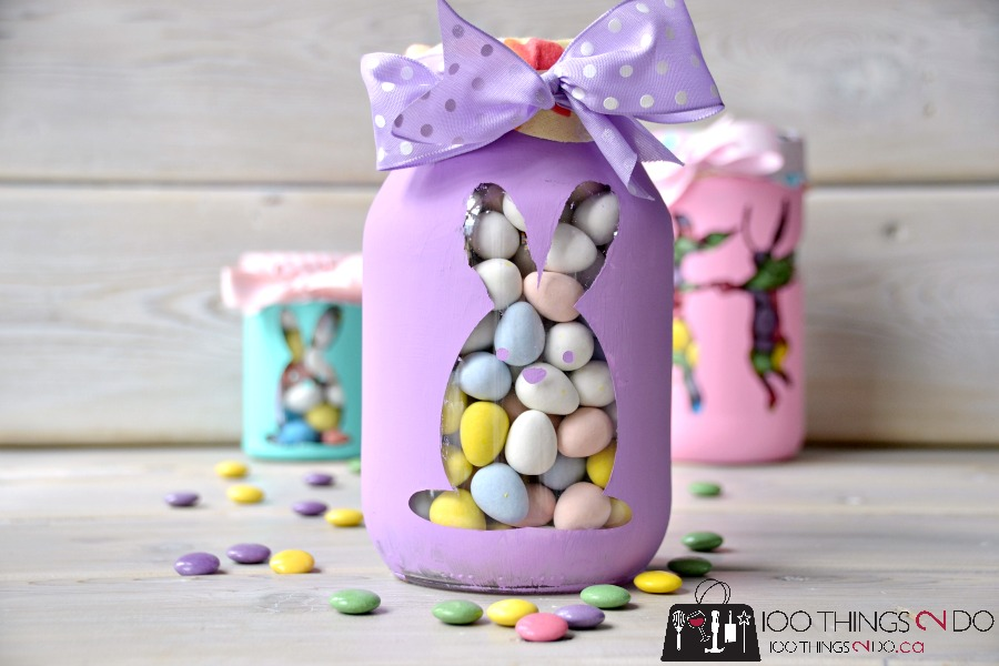 Easter bunny candy jars 100 things 2 do easter bunny candy jars easter gift easter treat jar negle Image collections