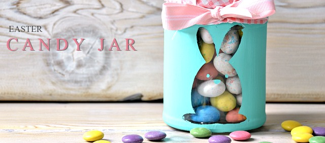 Easter bunny candy jars. Easter gift. Easter treat jar.