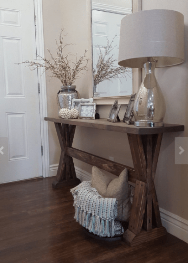 Styling your Entryway - console table