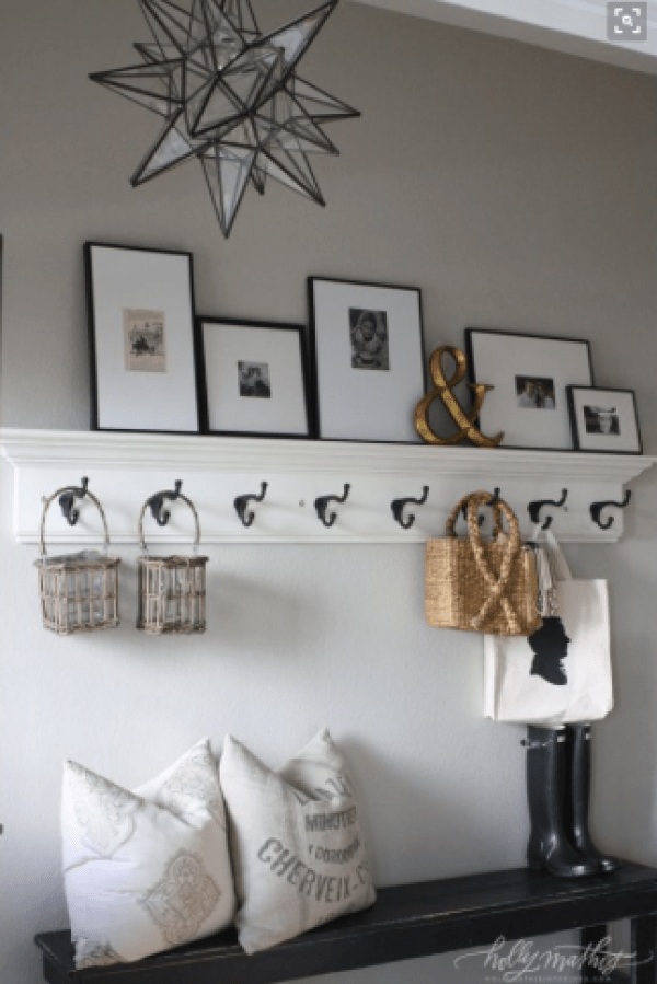 Styling your entryway - hooks