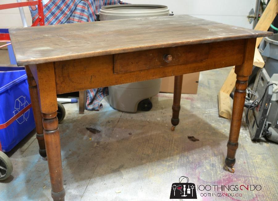 Furniture Makeover - Antique Farmhouse Table