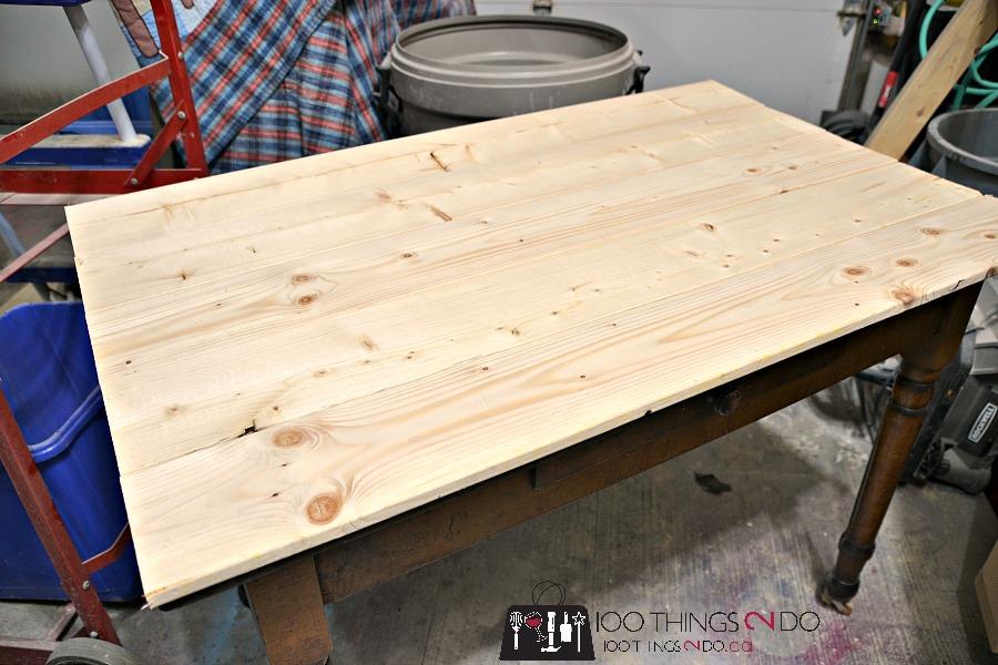 Antique farmhouse table desk 3