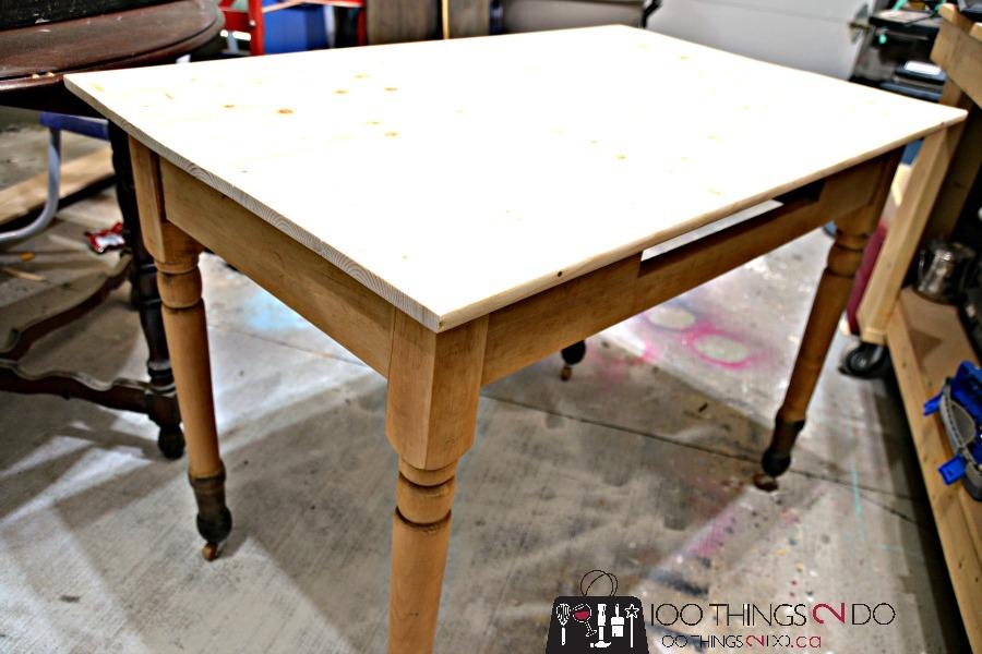 Antique farmhouse table desk 5