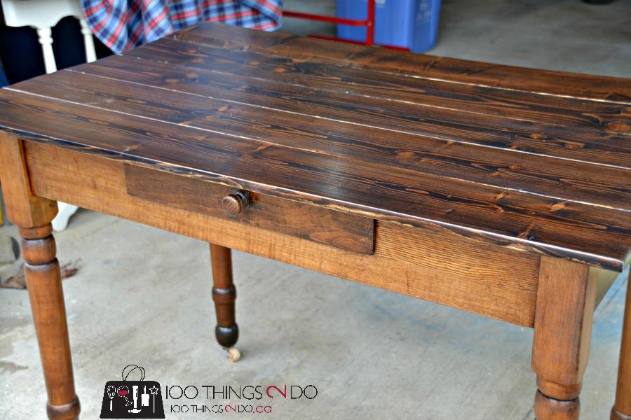Antique farmhouse table desk 7