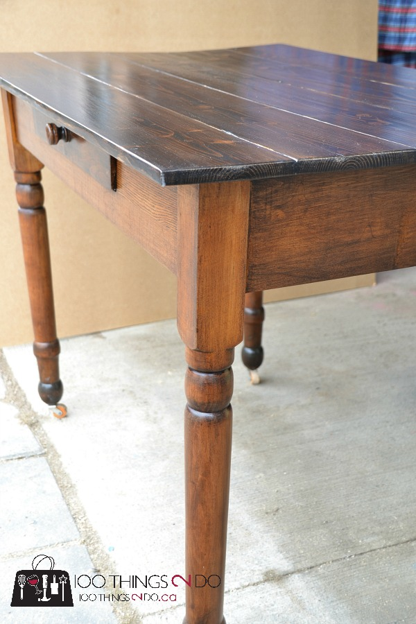 Antique farmhouse table desk 9