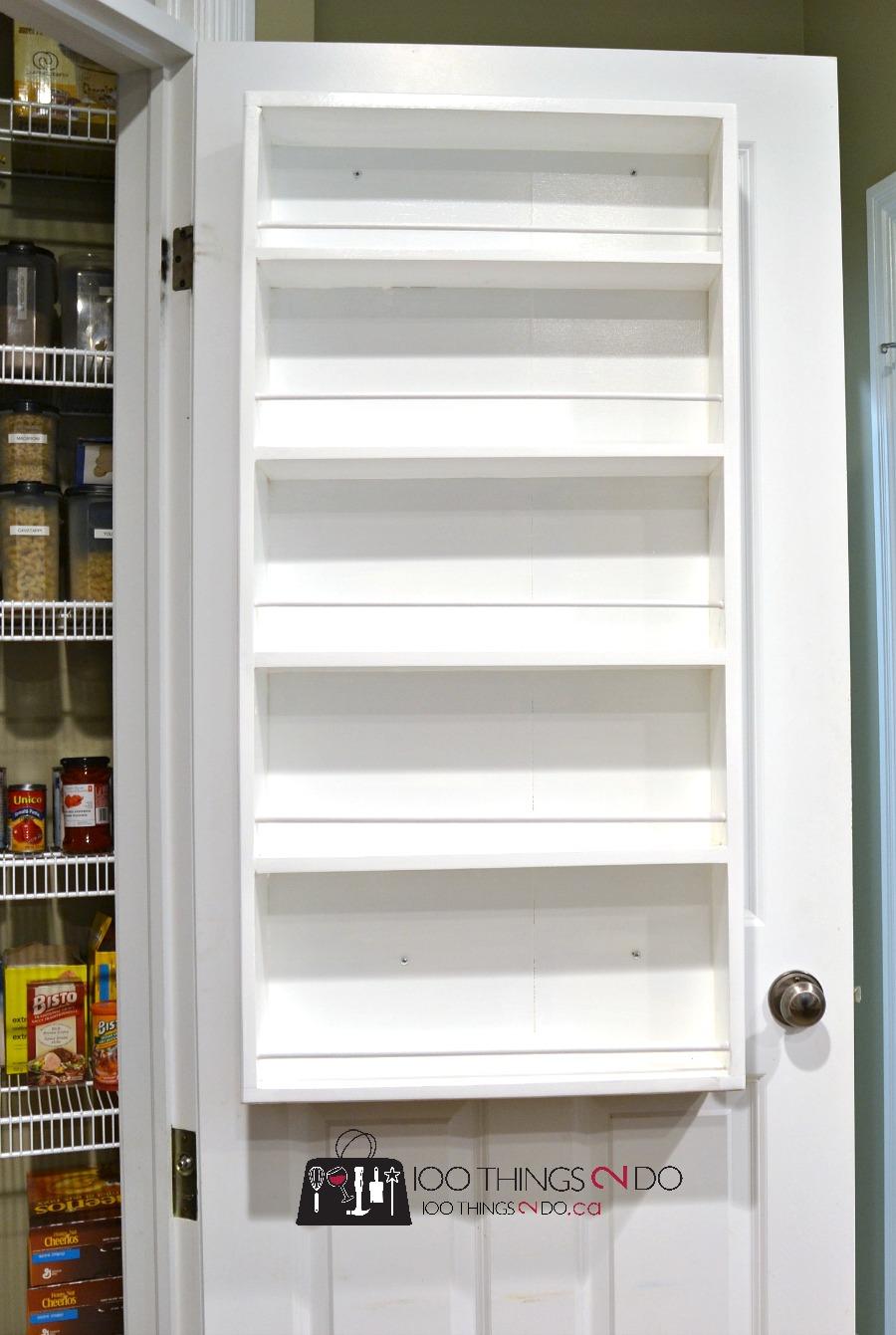DIY Door Mounted Spice Rack - 100 Things 2 Do