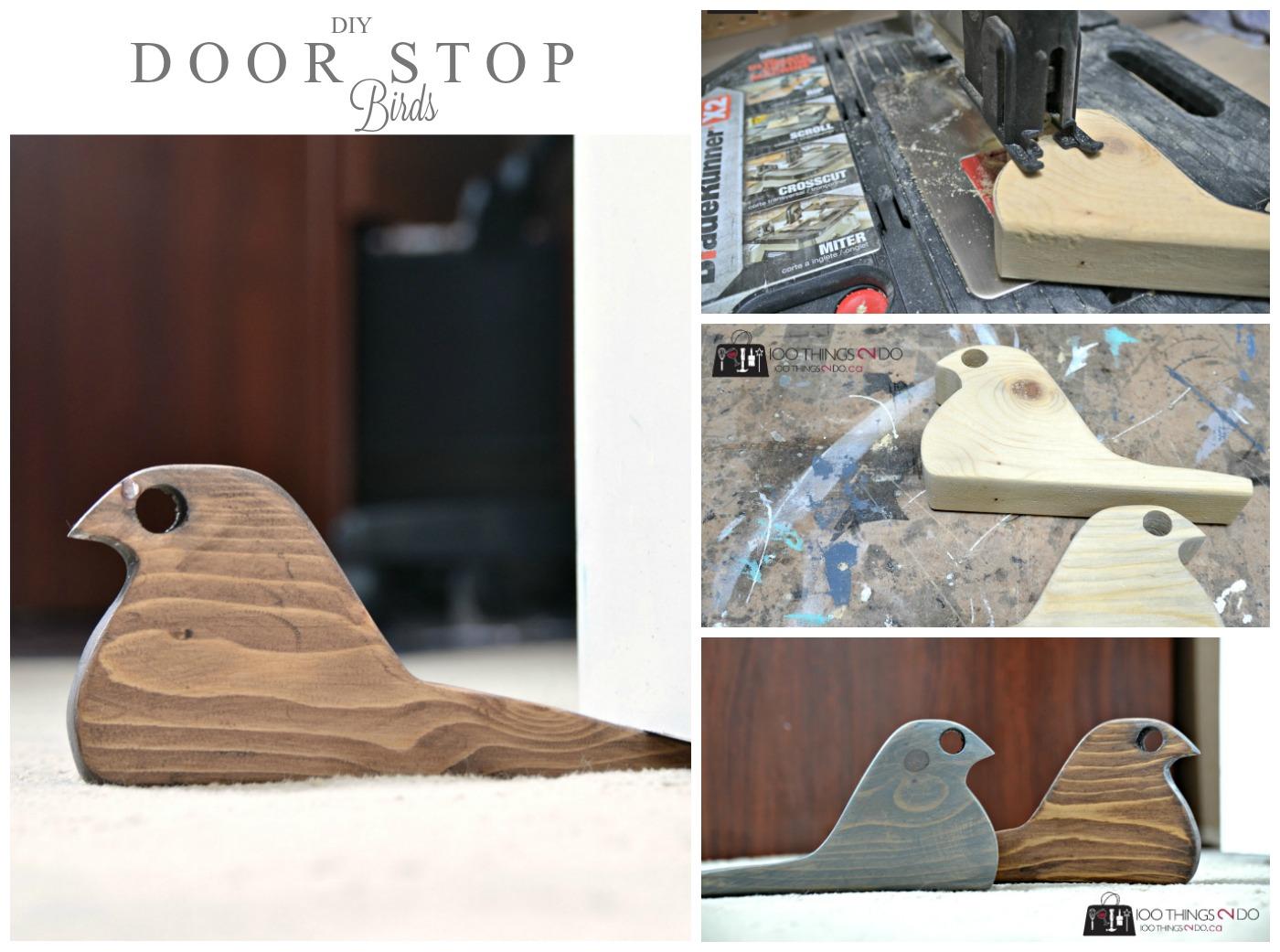DIY Door stop - Scrap wood bird doorstops & DIY Door Stop - Rustic bird from scrap wood pezcame.com