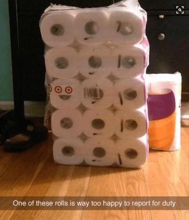 Too funny - toilet paper