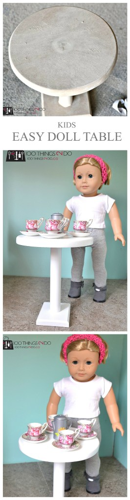 18 Doll table - Easy DIY doll furniture (table)