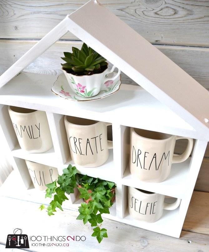 DIY Coffee Mug Shelf 2 - 12