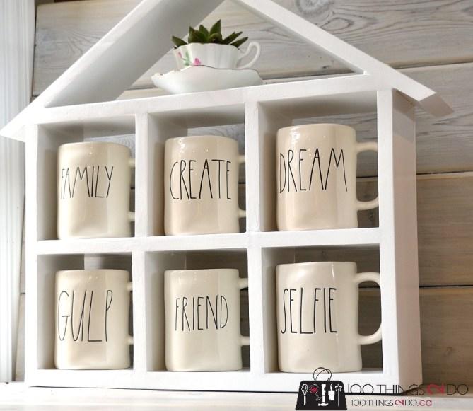 DIY Coffee Mug Shelf 2 - 3