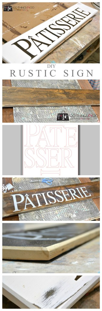 DIY wooden sign - Patisserie