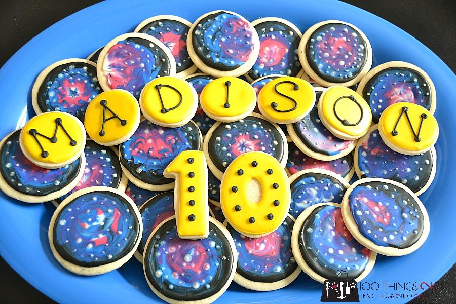 Laser tag party - sugar cookies