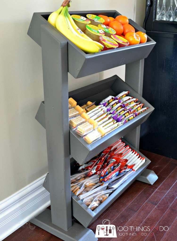 Diy Snack Station Diy Produce Stand Diy Display Stand