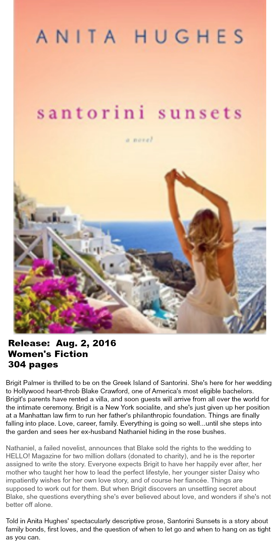 Must-read Books of Summer 2016 - Santorini Sunsets Anita Hughes