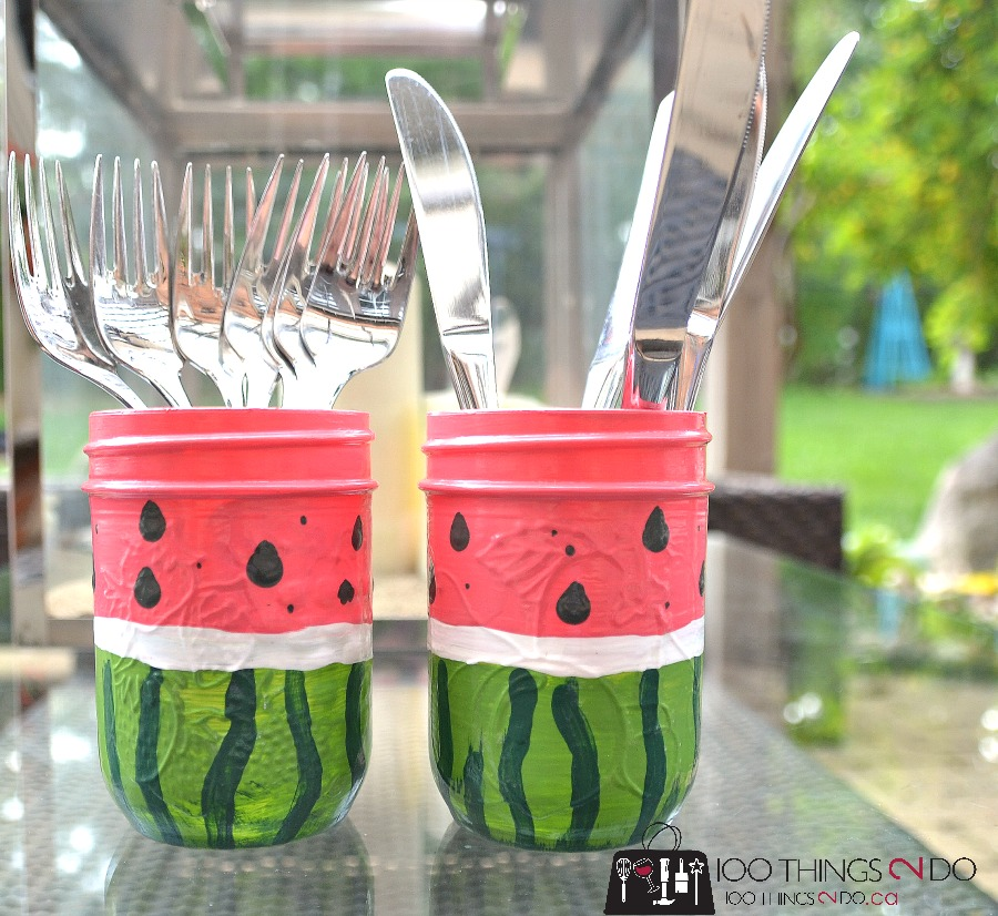 Watermelon utensil holders 3 - 6