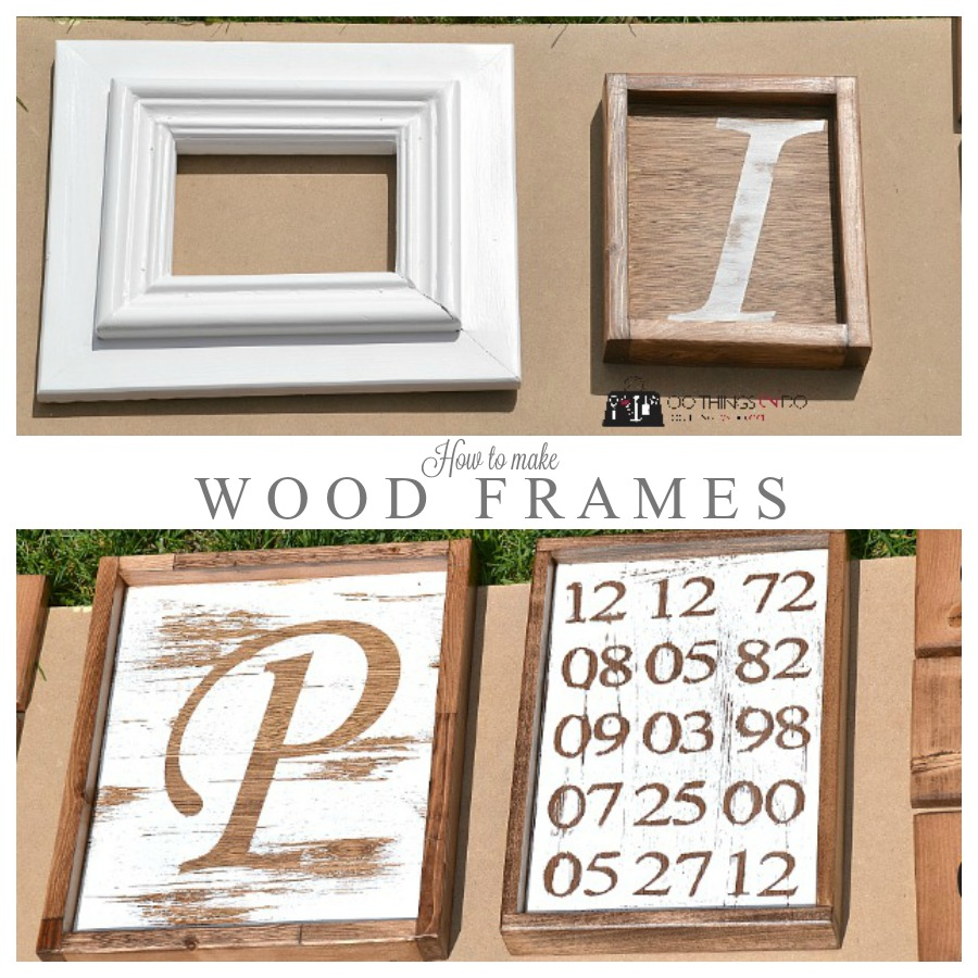 how to make wood frames P